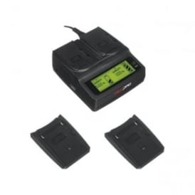 RP-DC20 Digital Dual Battery Charger with 2x RP-CFM50 Charger Plates Package a