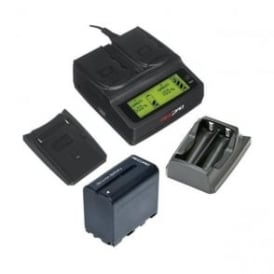 RP-DC20 Digital Dual Battery Charger, 2 Plates+Battery Package d