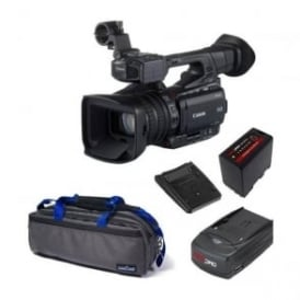 XF200 Compact HD Camcorder with a charger, battery and a bag  package c