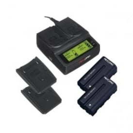 RP-DC20 Digital Dual Battery Charger+2 batteries package f
