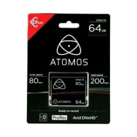 Atomos AO-ATOMCFT064  Cfast 1.0 64gb media for Ninja Star