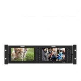 "RKM-270A 2 x 7"" LCD 3RU Multi-Channel Rack Monitor"