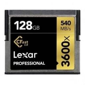LC128CRBEU3600 128GB 3600x Pro CFast 2.0 - 540MB/s Card