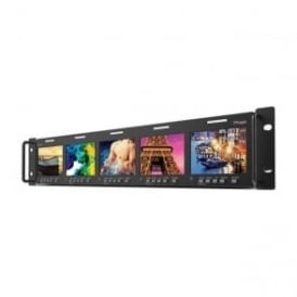"TV Logic RKM-535A 5 x 3.5"" LCD  Multi-Channel Rack Monitor"