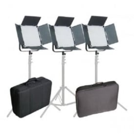 CAME-TV L1024S3KIT High CRI Bi-Color 3 X 1024 LED Video Studio Lighting