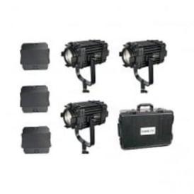 B60-3KIT 3 Pcs Boltzen 60w Fresnel Fanless Focusable Led Daylight