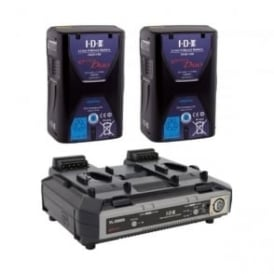 ED-150/2000S 2 x ENDURA DUO-150 Batteries, 1 x VL-2000S Simultaneous Charger with 4 pin XLR DC Output (100W)