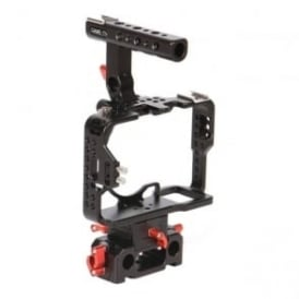A7-BLACK Sony A7 Series Cameras Carbon Fiber Cage With 15mm Rod Base - Black