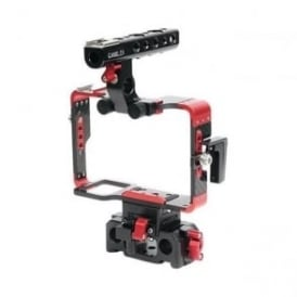 A7-RED Sony A7 Series Cameras Carbon Fiber Cage With 15mm Rod Base - Red