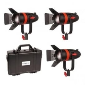 3 Pcs CAME-TV Boltzen 55w Fresnel Focusable LED B-Color Kit