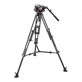 Manfrotto MAN 509HD+545BK Pro Middle-Twin Kit 100 Tripod|509HD Video Head