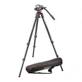 Manfrotto MAN MVK502C 1 Single Legs Video System-Carbon