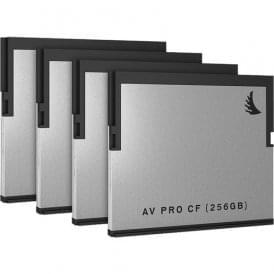 AngelBird AB-AVP256CFX4 256GB AV Pro CF CFast 2.0 Memory Card (4-Pack)