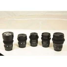 Sigma Art Lens Set with Focus Gears 20,24,35,50,85, Ex Demo