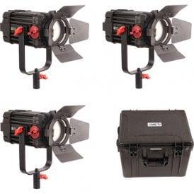F-150W-3KIT 3 Pcs CAME-TV Boltzen 150w Fresnel Focusable LED Daylight Kit