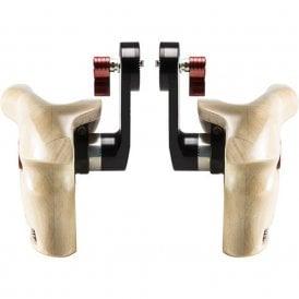 Shape SH-W-HAND14 Double Wooden Handgrips for ARRI Rosettes