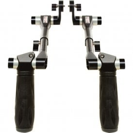 Shape SH-HAND12SHADOW Telescopic Handles with ARRI Rosettes (Black)