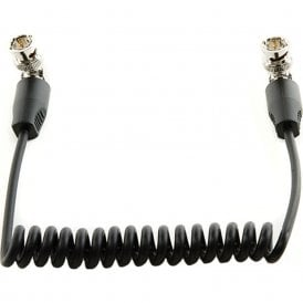 """Shape SH-SH10BN Coiled SDI Cable with Right Angle Connectors (10"""")"""