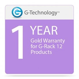 G-Technology GT-HS00189 Gold 1-Year Service Warranty for G-Rack 12 Products