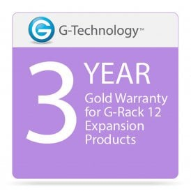 G-Technology GT-HS00205 Gold 3-Year Service Warranty for G-Rack 12 Expansion Products