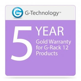 G-Technology GT-HS00195 Gold 5-Year Service Warranty for G-Rack 12 Products