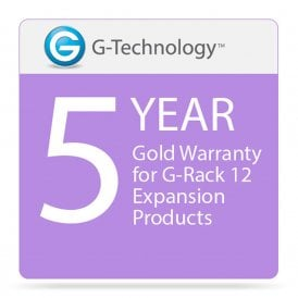 G-Technology GT-HS00208 Gold 5-Year Service Warranty for G-Rack 12 Expansion Products