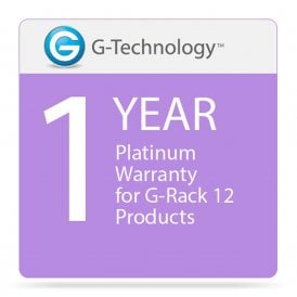 G-Technology GT-HS00190 Platinum 1-Year Service Warranty for G-Rack 12 Products