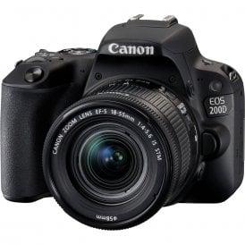 Canon 2250C013 EOS 200D Black + EF-S 18-55mm f/4-5.6 IS STM Black