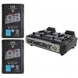 IDX ED-C98/2000S 2 x DUO-C98 Batteries, 1 x VL-2000S Kit