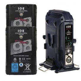 IDX ED-C98/2X DUO-C98 Two 96Wh High-Load Battery Kit with 2-Bay Battery Charger
