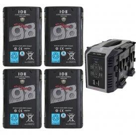 IDX ED-C98/4Se 4 x DUO-C98 Batteries 1 x VL-4Se Charger Kit