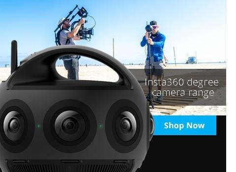 Insta360 degree cameras range