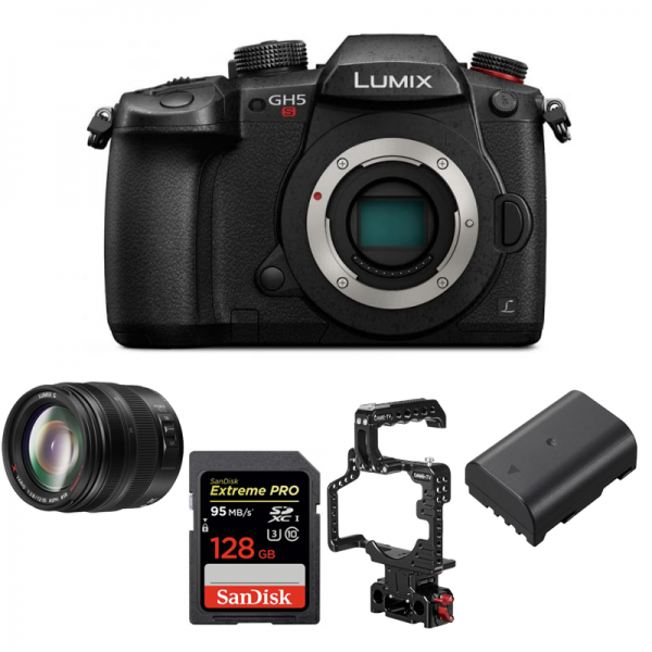 DC-GH5S LUMIX G Compact System 4K Mirrorless Camera Package d