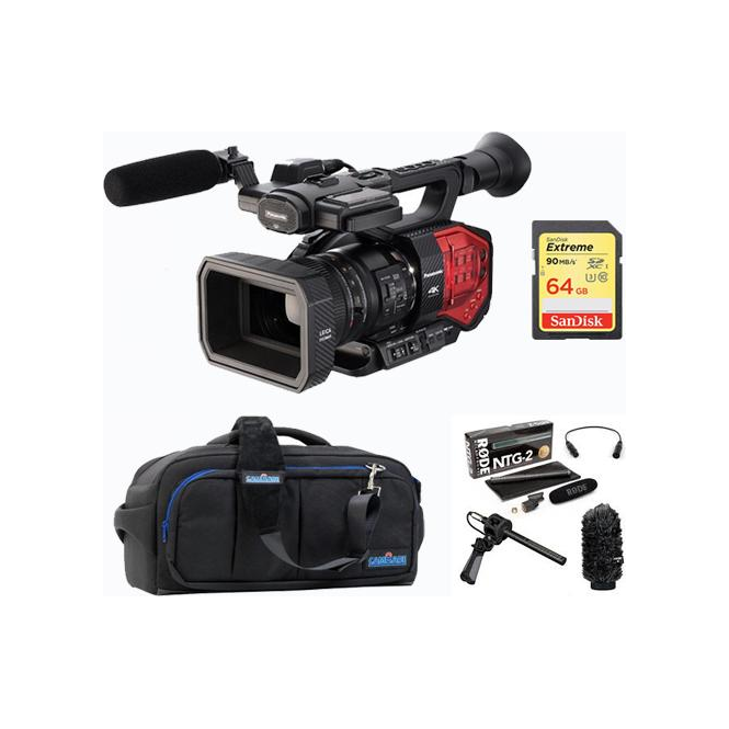 Panasonic PAN-AGDVX200 4K 4/3 type Fixed lens Camcorder package c
