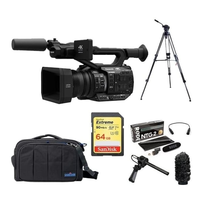 Panasonic AGUX90 4K Camcorder Package D