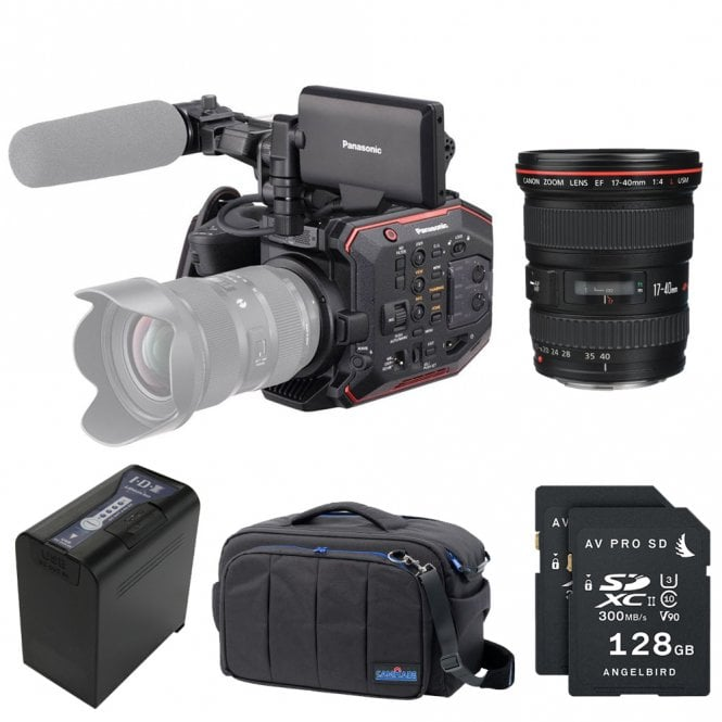 Panasonic AU-EVA1 Compact 5.7K Super 35mm Cinema Camera package E