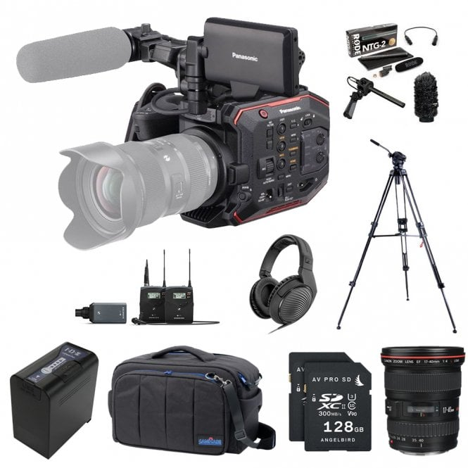 Panasonic AU-EVA1 Compact 5.7K Super 35mm Cinema Camera package H