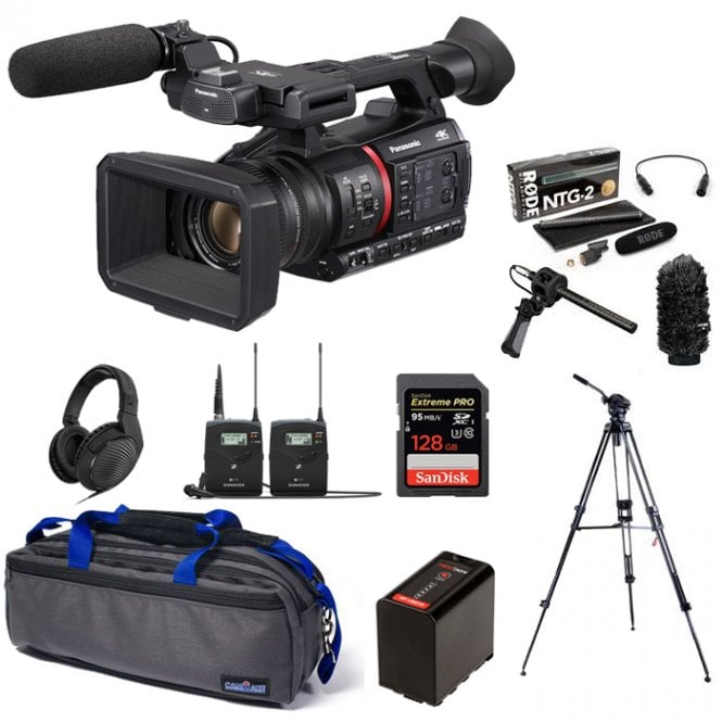 Panasonic Lightweight 4K/HDR 10BIT REC Camera Recorder with Live Streaming package e