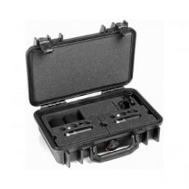 ST4006C, ST4006, C ST4006-C, ST4006/C Stereo Pair w. 2 x 4006C, Clips, Windscreens in Peli Case
