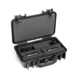 ST4015C, ST4015, C ST4015-C, ST4015/C Stereo Pair w. 2 x 4015C, Clips, Windscreens in Peli Case