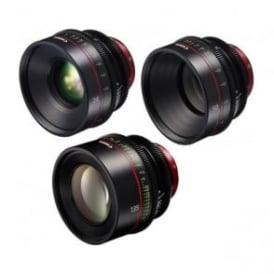CN-E 3 EF Mount Prime Lens 3 Set 24, 50 and 135mm with Peli Case