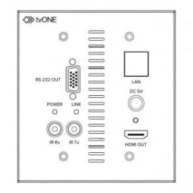 TV1-1T-CT-654USWP CT654A Receiver Wall Plate