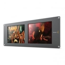 BMD-HDLSMTVDUO2 Dual 8-inch SDI LCD rack monitors