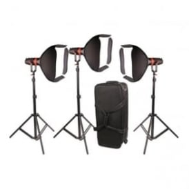F-55Y-3PACK Boltzen 55w Fresnel Focusable LED Tungsten Package - 3Pcs
