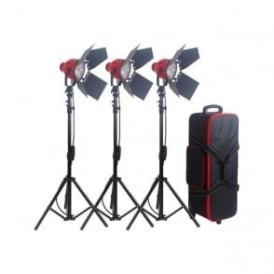 R8300 Pro Red Head Redhead Continuous Light Lighting + Stands
