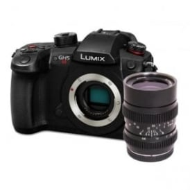 PAN-DCGH5S-SLR LUMIX DC-GH5S CSC Camera & SLR Magic 2595 MFT Lens Bundle