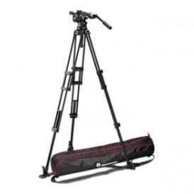 Nitrotech N12 Video Head with Twin Leg Tripod Ground Spreader