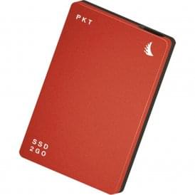 256GB SSD2go PKT USB 3.1 Gen 2 Type-C External Solid State Drive (Red)