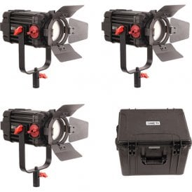 F-100W-3KIT 3 Pcs CAME-TV Boltzen 100w Fresnel Focusable LED Daylight Kit