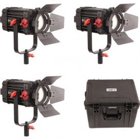 F-100S-3KIT 3 Pcs Boltzen 100w Fresnel Focusable LED Bi-Color Kit
